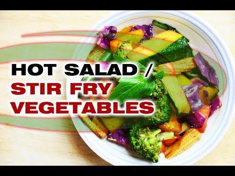Hot Salad / Stir Fry Vegetables / Warm Salad / स्टर फ्राय वेजीटेबल / Vegetarian and Jain Recipe