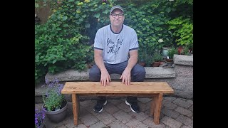 How to build a bench.