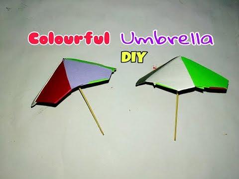 Paper Colorful Umbrella DIY