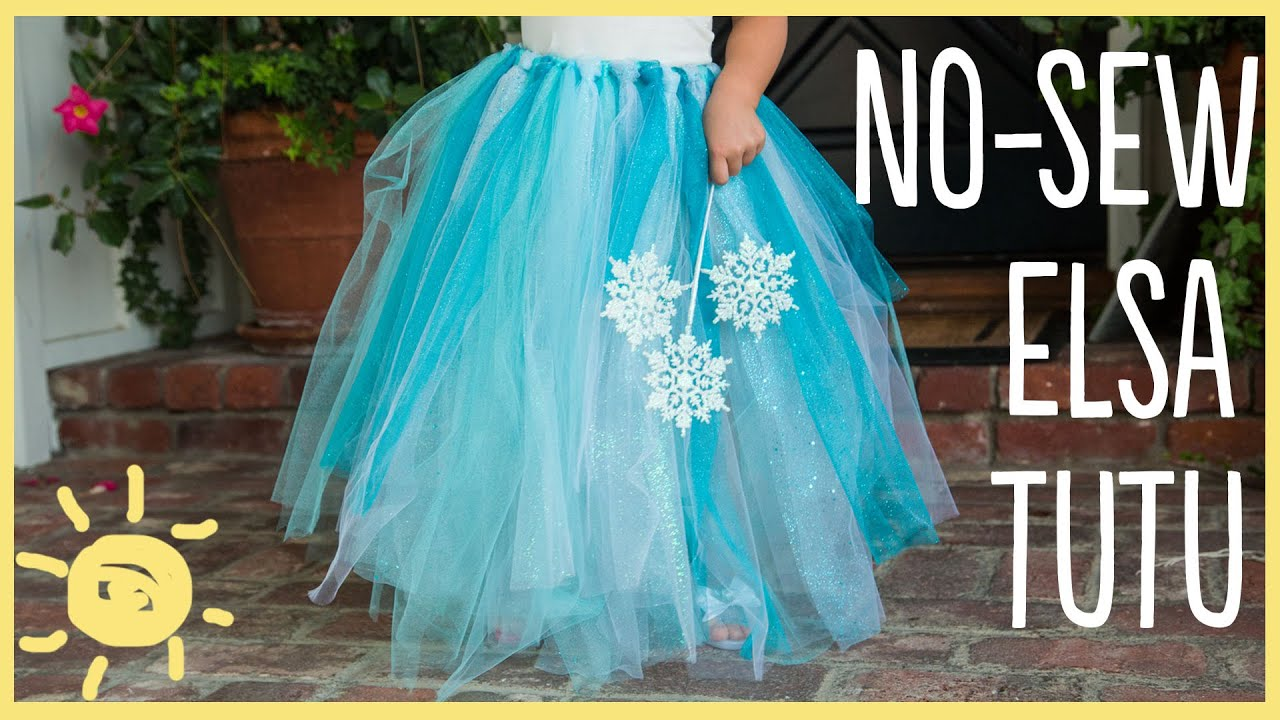 Diy how to make a no sew tutu easy halloween costume youtube solutioingenieria