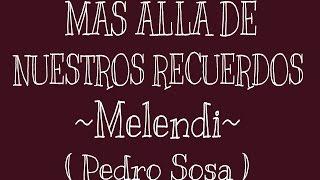 Cover - Más allá de nuestros recuerdos - Melendi
