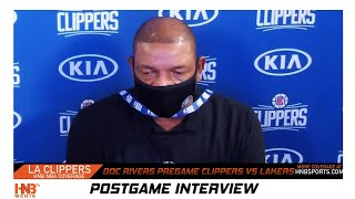 Doc Rivers pregame on Jazz/Pelicans protest + Pat Bev game status Clippers vs Lakers 7.30.20 (Clip)