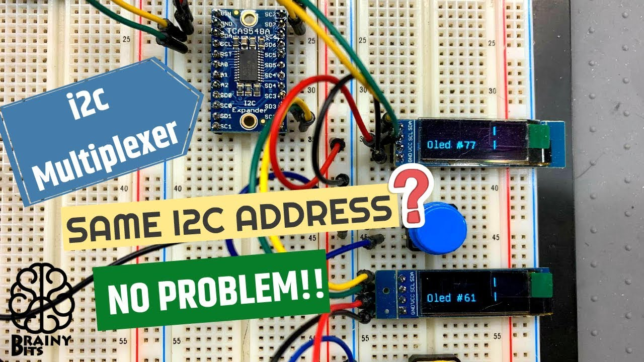 I2C Multiplexer – How to use two i2c modules with the same address