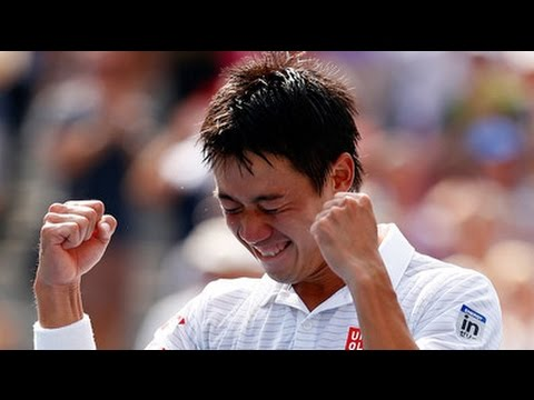 Kei Nishikori After Match interview Vs Novak Djokovic US OPEN 2014