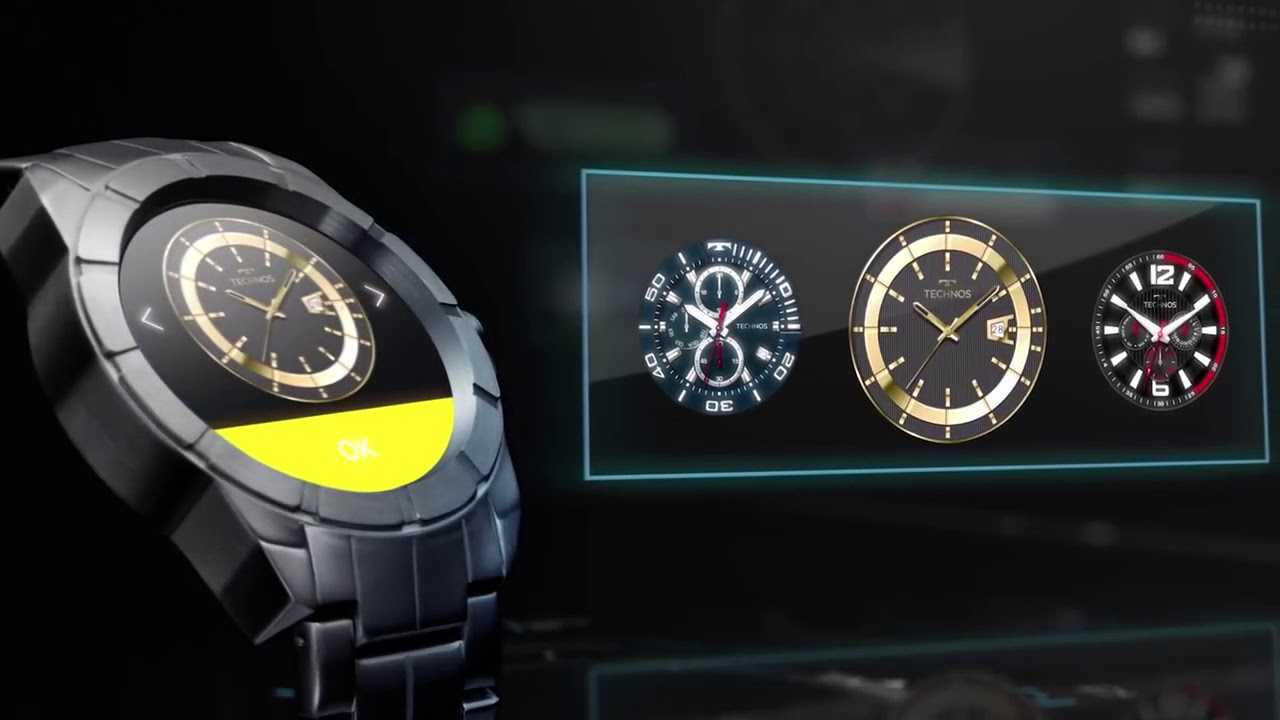4177e601b5cbe Relógio Technos Masculino Connect Smartwatch SRAB 4P - YouTube