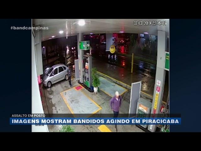 Assalto em posto: imagens mostram bandidos agindo em Piracicaba