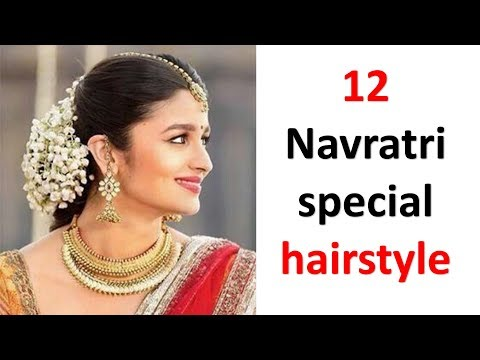 12 amazing & new hairstyle for navratri || juda hairstyle || ladies hair style | hairstyle for girls thumbnail