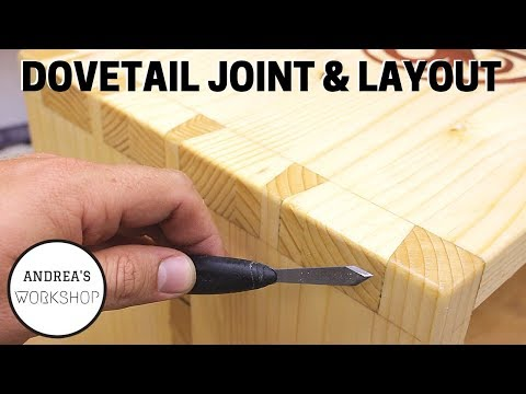 How To Layout And Hand Cut Dovetails - Ep 063