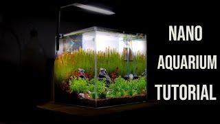Nano AQUARIUM - AQUASCAPING Tutorial for Beginners