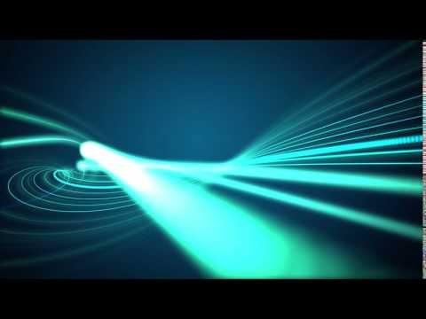 lines of green lights-move in waves background video effects.