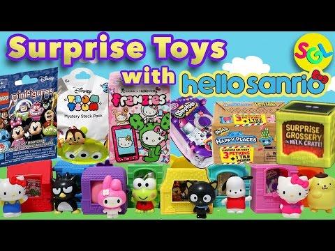 Random Surprise Toys Hello Kitty Tsum Tsum Shopkins Grossery Gang Lego Blind Bags Surprise Egg