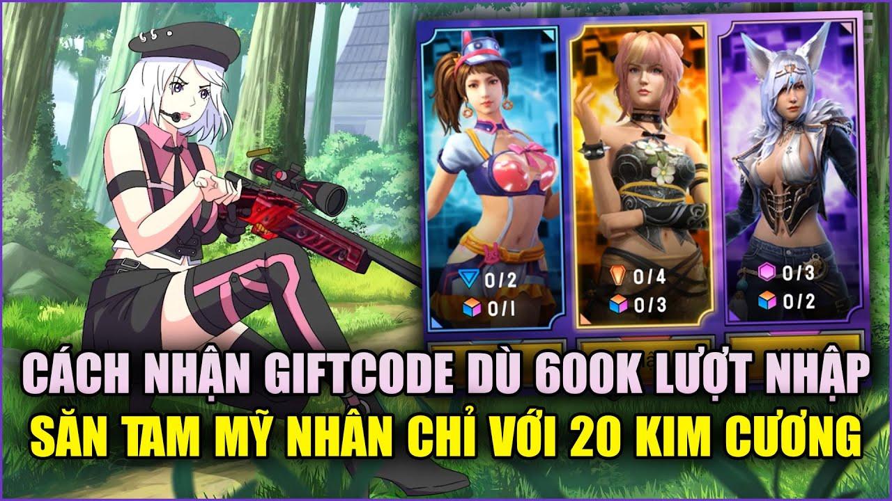 Free Fire | Đừng Quên Nhận GIFTCODE 600K Lượt Nhập - Cách Săn Tam Mỹ Nhận 20 KC | Rikaki Gaming
