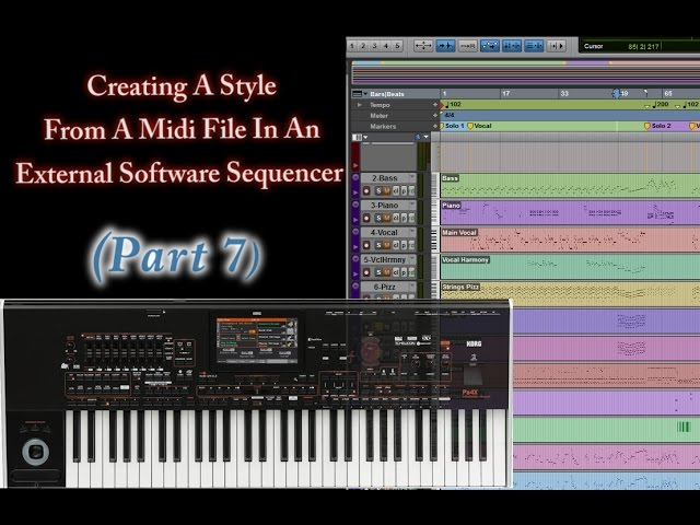 Part 7 -Creating Style from Midi In An External Sequencer
