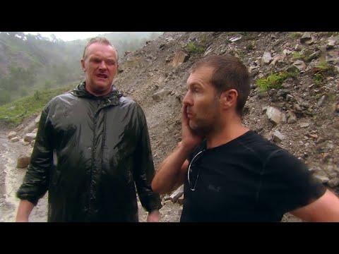 Rhod Gilbert and Greg Davies - Dangerous Landslide in Nepal - Worlds Most Dangerous Roads - BBC