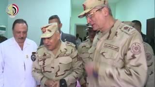بالفيديو.. وزير الدفاع ورئيس الأركان يزوران مصابي حادث الكنيسة البطرسية