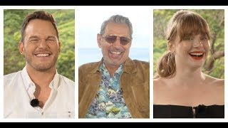JURASSIC WORLD: FALLEN KINGDOM Interviews: Chris Pratt, Bryce Dallas Howard, Jeff Goldblum