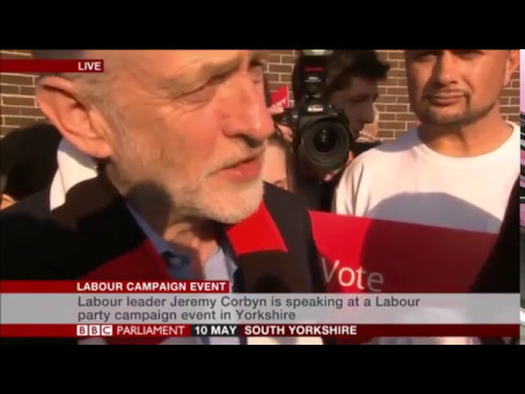 Jeremy Corbyn visits Sarah Champion's constituency in Rotherham