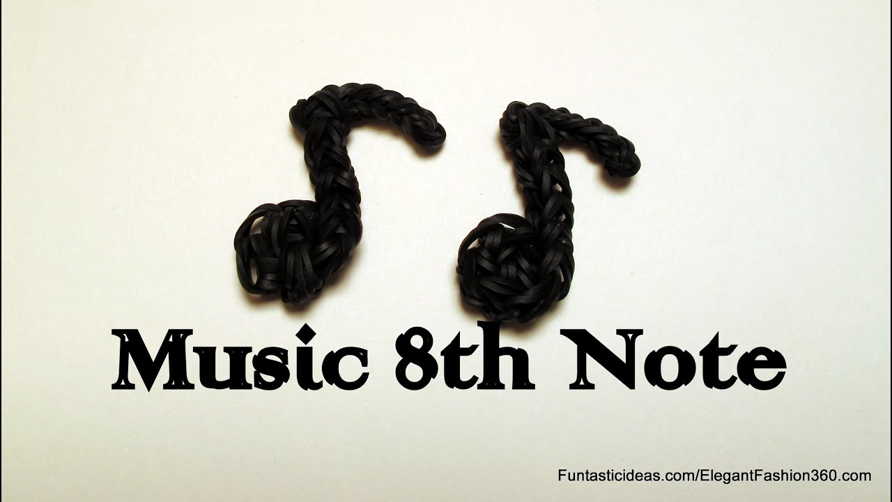 Rainbow Loom Music 8th Note charm - How to - Music Series