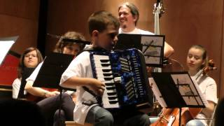 Suzuki Accordion Project - Concert in Aosta (Italy) - 2013