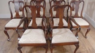 Set Mahogany Queen Anne Dining Chairs