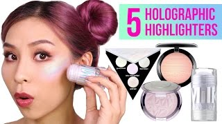 5 Holographic Highlighters - TINA TRIES IT