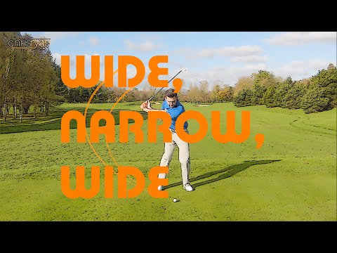 WIDE, NARROW, WIDE GOLF SWING
