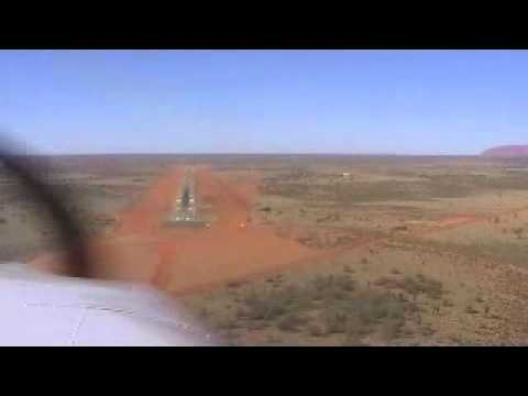 Piper Lance Landing at YAYE Ayers Rock, Northern Territory,