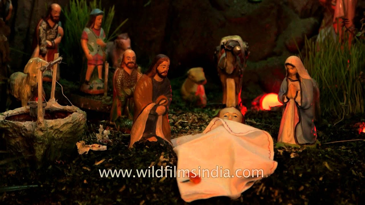 manger scene of birth of baby jesus youtube