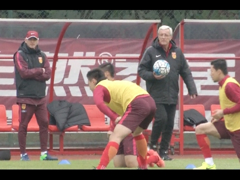 Chinese Men's Football Team Trains for 2018 World Cup Qualifying Campaign
