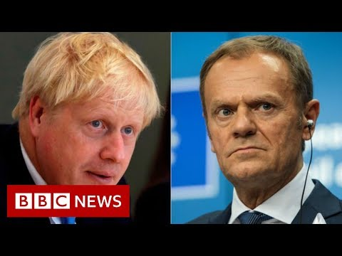 Boris Johnson says 'anti-democratic' backstop must be scrapped - BBC News