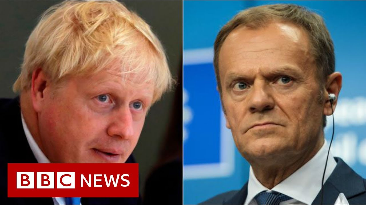 BBC News:Boris Johnson says 'anti-democratic' backstop must be scrapped - BBC News