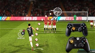 FIFA 20 ALL FREE KICKS TUTORIAL | TRIVELA, KNUCKLEBALL,POWER, RABONA!
