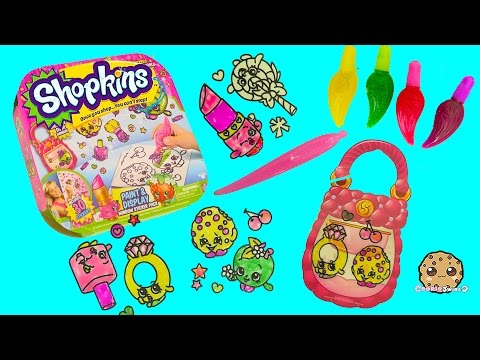 Make Your Own Shopkins Stickers With Gel Paints - Paint & Display Kit - Cookieswirlc