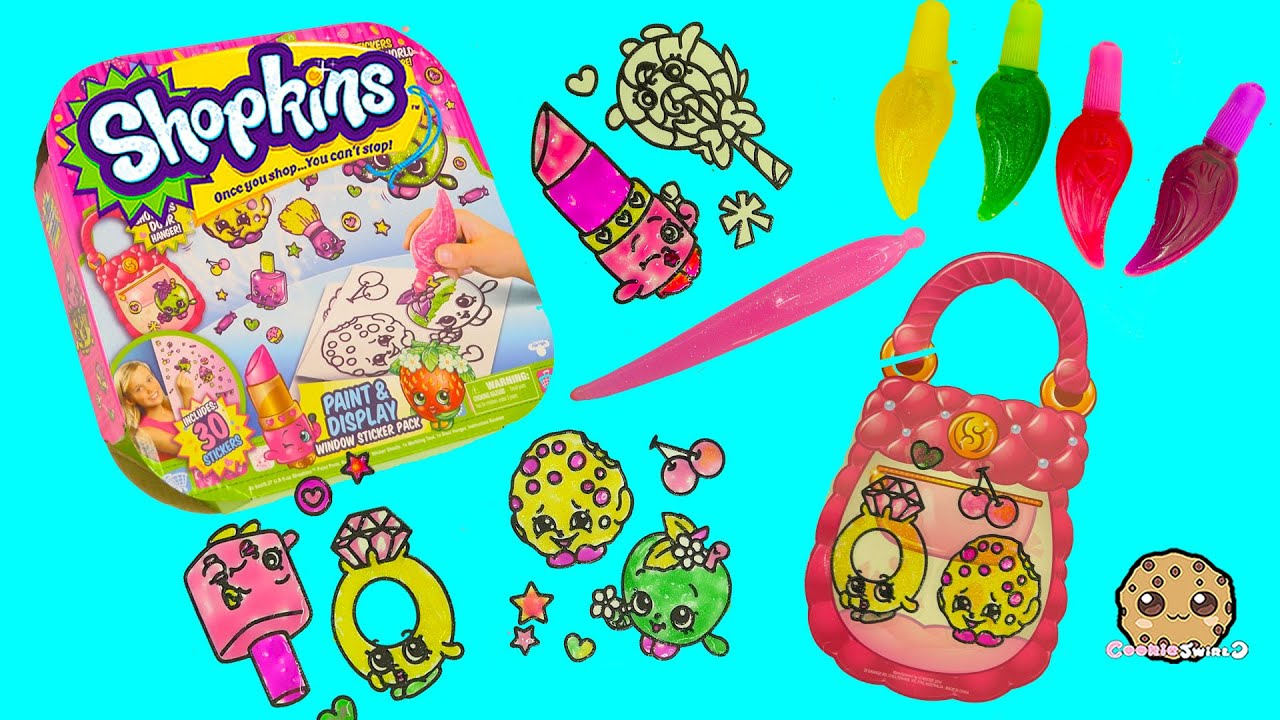 Make Your Own Shopkins Stickers With Gel Paints Paint  Display - Make your own decal kit