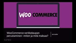 Verkkokaupan perustaminen WooCommercella - miten ja mitä maksaa?