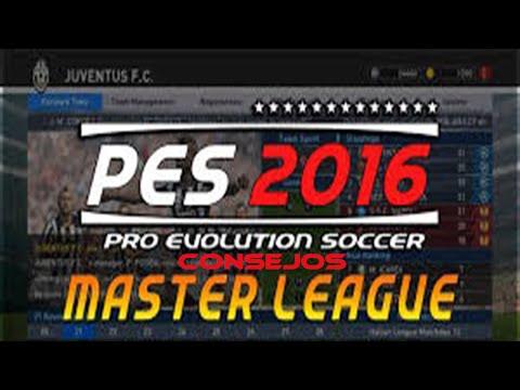 Consejos PES 2016 - Liga Master