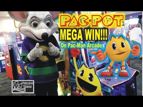 PAC-POT Mega Win On Pac-Man Game At Chuck E Cheese (Phillips Vision: Episode - 16)