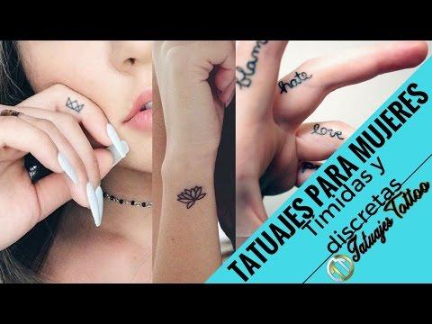 Tatuajes pequeños para mujeres TÍMIDAS de carácter fuerte y personalidad de hierro | Tatuajes Tattoo