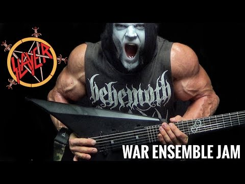 Slayer - War Ensemble Guitar Playthrough Jam In C# mp3