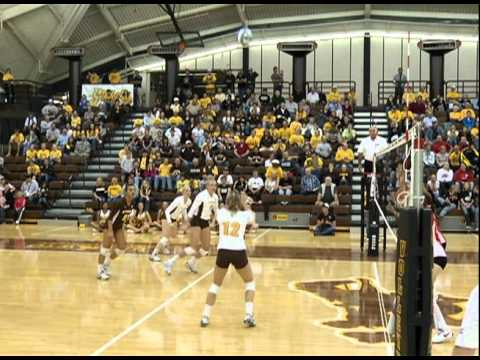 University of Wyoming Volleyball vs. New Mexico (2010 Highlights)