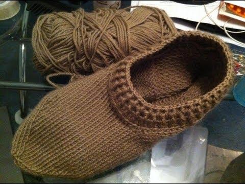 Вязание тапочек спицами
