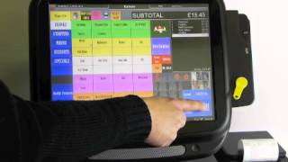 A demonstration of touchpoint software from icrtouch showing basic bar/pub use.
