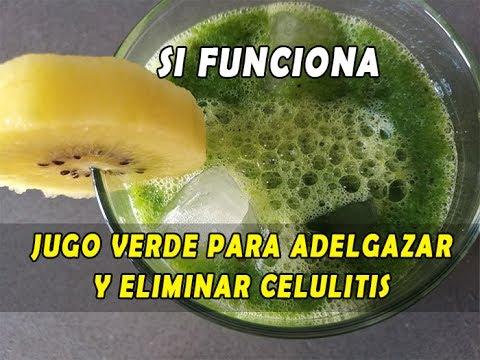 batidos verdes para eliminar la celulitis