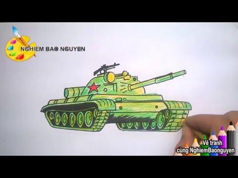 Vẽ xe tăng/How to Draw Tank