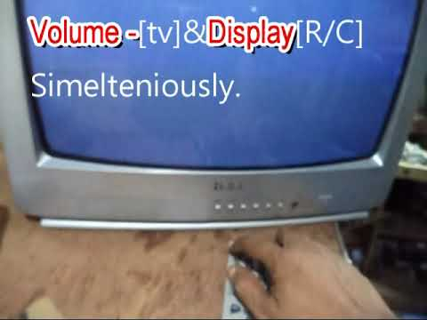 How to open Haier crt tv service mode