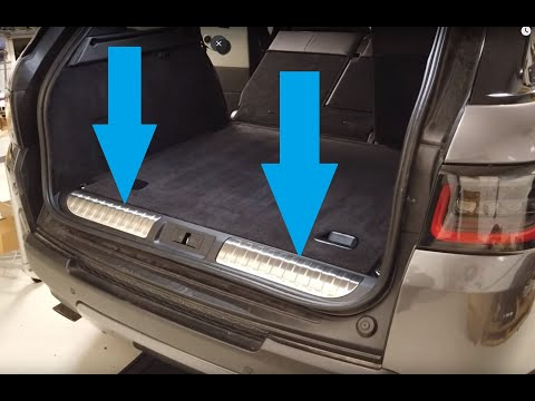 How To Fit Range Rover Sport L494 Bright Trunk Tread Plate VPLWS0210 SVR