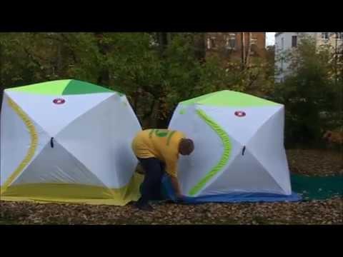 Зимние палатки Медведь Куб 3 и 2 трехслойные