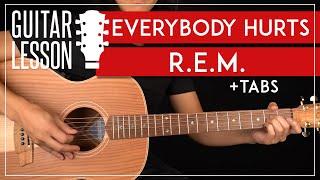 Everybody Hurts Guitar Tutorial 🎸 REM Guitar Lesson  Easy Chords + TAB 