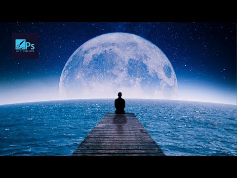 The Moon and Loneliness   Photoshop Tutorial  Manipulation Workflow thumbnail