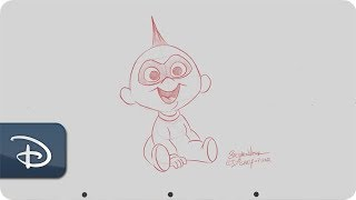 How-To Draw Jack Jack From 'Incredibles 2'